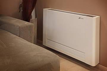 Detalle de radiadores y fancoils en salon